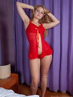 Sweetmaiden strips naked in her violet room